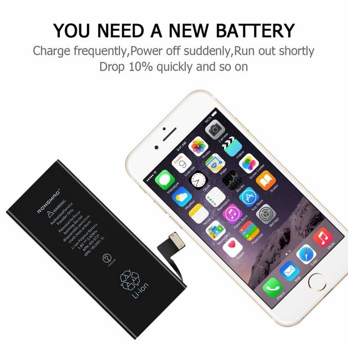 100% New For Iphone 5 5s 5c 6 6 plus cell phone Batteries Replacement For Iphone 5 Battery